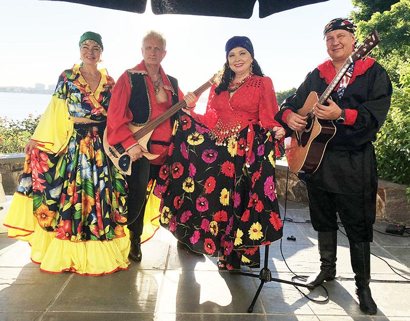 Saturday, July 7th, 2018, Russian Gypsy Musisians, Long Island, New York, Gypsy Themed Party, Great Neck, NY, Irina Zagornova, Elina Karokhina, MIkhail Smirnov, Leonid Bruk