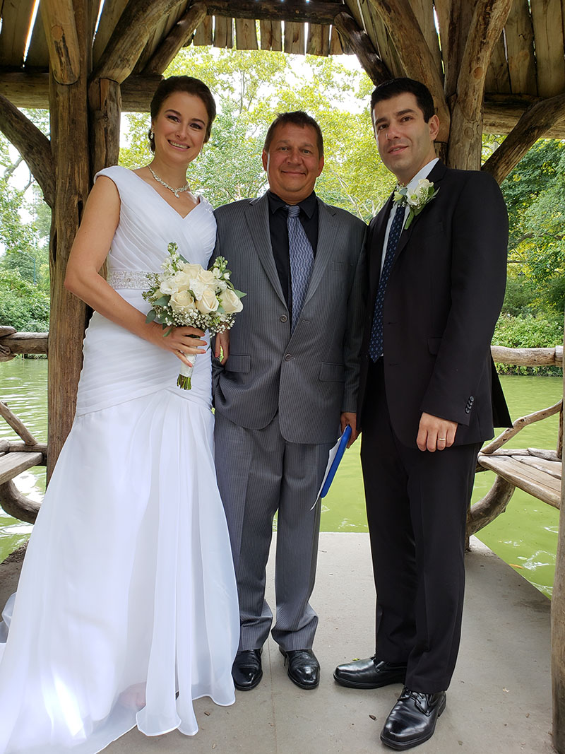 09-08-2018, Saturday, September 8th, 2018, 3pm, Russian Wedding Minister Mikhail, Central Park New York City