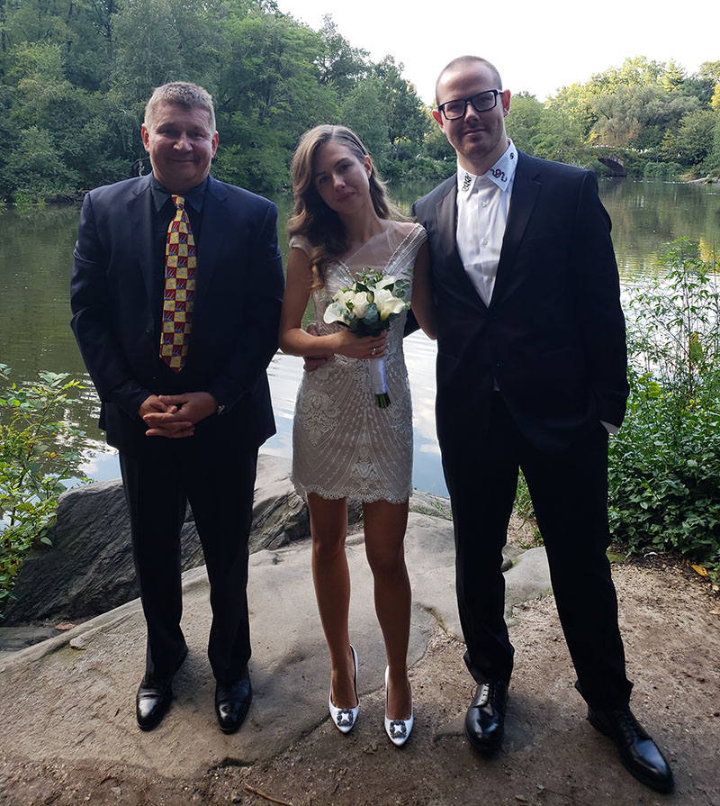 09-29-2018, Saturday, September 29th, 2018, Russian Wedding Officiant Mikhail, Central Park NYC