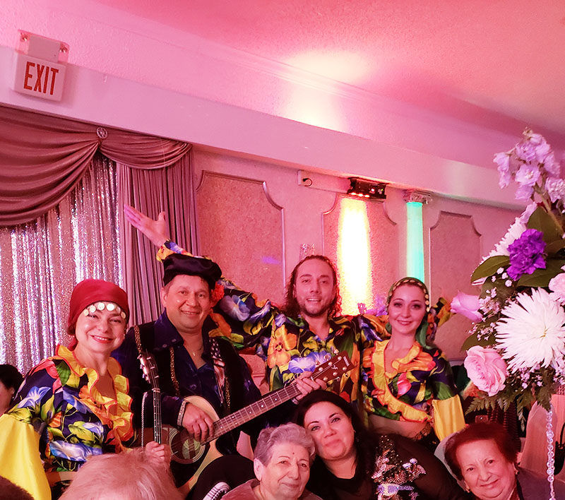 Gypsy show, Russian birthday party, Melody Restaurant, Philadelphia, Pennsylvania