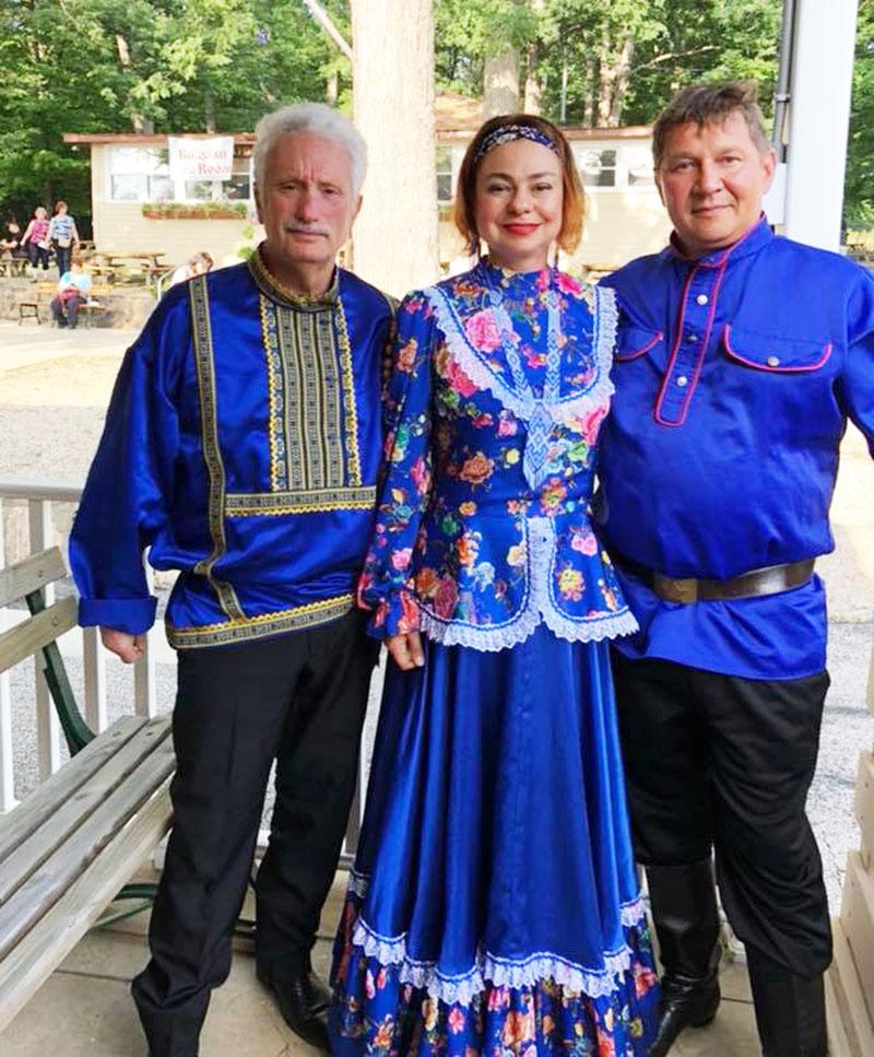July 2018, Russian Balalaika Trio, Leonid Bruk, Elina Karokhina, Mikhail Smirnov, German Central, 7863 York Road, Parma, Ohio