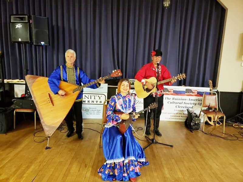 July 2018, Russian Balalaika Trio, Leonid Bruk, Elina Karokhina, Mikhail Smirnov, German Central, 7863 York Road, Parma, Ohio