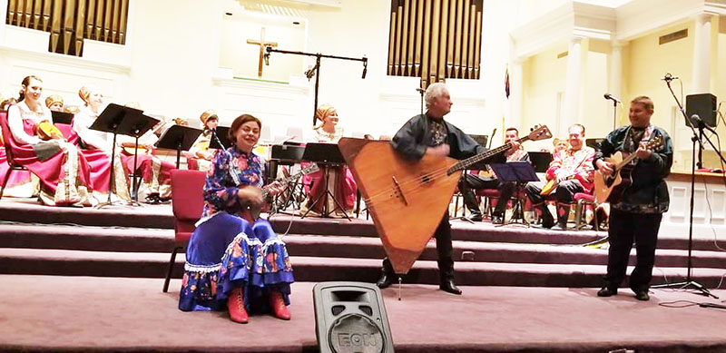 10-20-2018, Saturday, October 20th, 2018, Russian Balalaika Trio, Leonid Bruk, Elina Karokhina, Mikhail Smirnov, Avondale First Baptist Church, 27 Covington Road, Avondale Estates, GA  30002