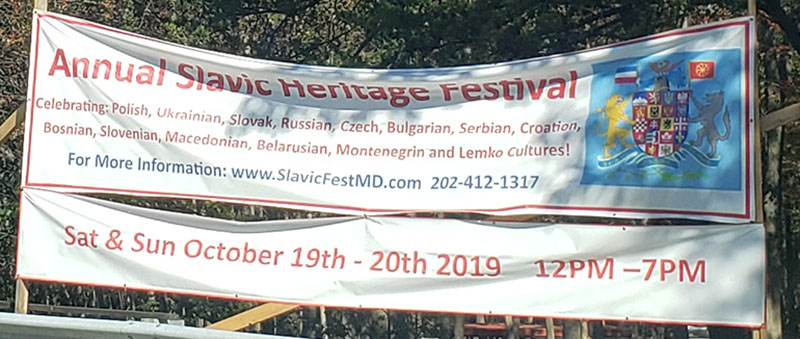 Sixth Annual Slavic Heritage Festival in Harford County, Maryland, St. Mary's Assumption Eastern Rite Church, 2807 Mountain Road, Joppa, MD  21085
