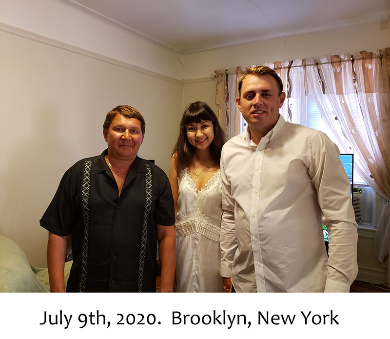 07-09-2020, Thursday, July 9th, 2020, Russian wedding ceremony, Russian wedding minister Mikhail, Russian wedding officiant, Sheepshead Bay, Brooklyn, New York