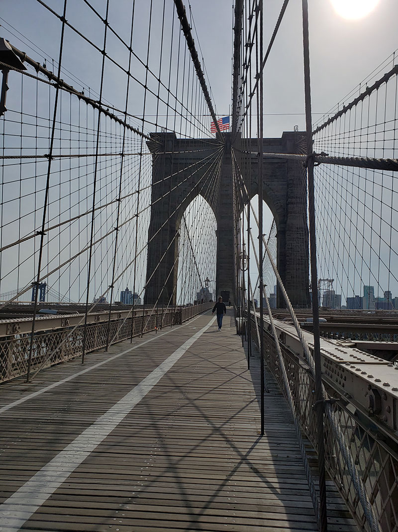 10-10-2020, Saturday, October 10th, 2020, Brooklyn Bridge NYC, New York City
