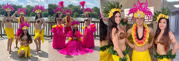 Гавайское танцевальное шоу с огнём Hawaiian Hula and Fire Dancers Luau Show New Jersey, New York, Connecticut, Pennsylvania