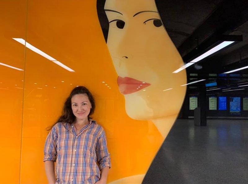Frida Anuarbek, keyboard player, singer from New York City