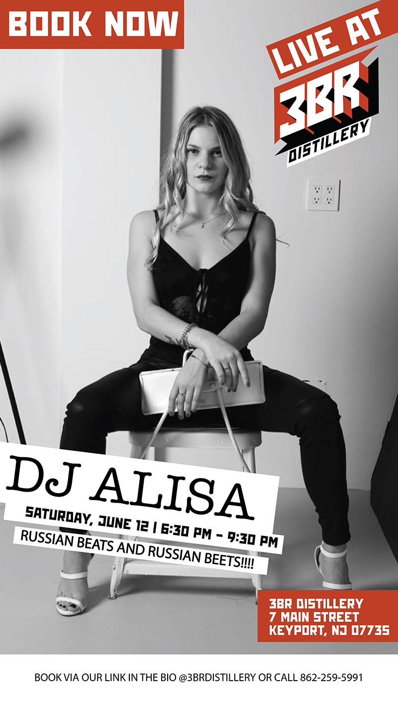 Russian DJ Alisa Live at 3BR Distillery in Keyport, New Jersey, 06-12-2021