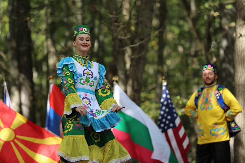 Tatar Traditional Dance, Dinara Subaeva, Serhiy Tsyganok, Maryland, Slavic Heritage Festival, St Mary's Assumption Eastern Rite Church, Joppa, MD, U.S. Army photo by Sgt. Kalie Jones