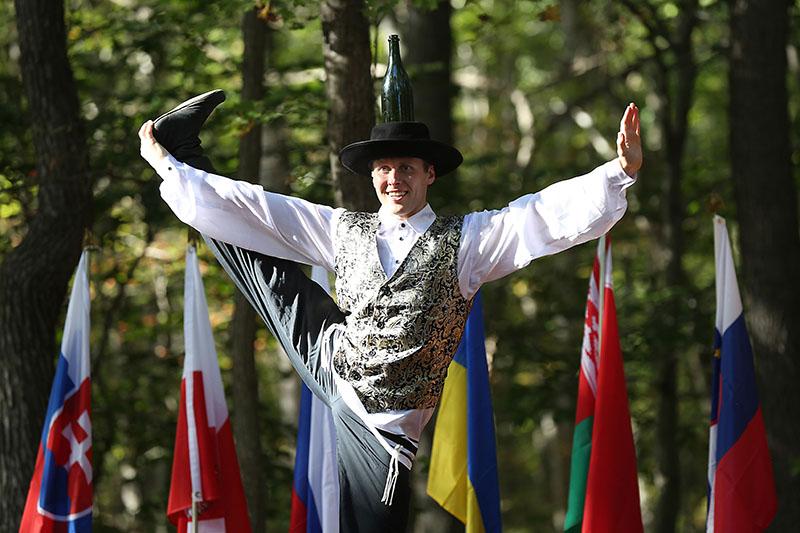 Jewish Bottle Dance, dancer Vladimir Nikitin, Maryland, Slavic Heritage Festival, St Mary's Assumption Eastern Rite Church, Joppa, MD, U.S. Army photo by Sgt. Kalie Jones