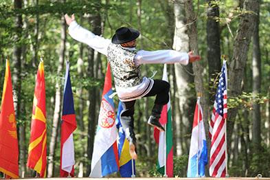 Jewish Bottle Dance, Bottle dancer Serhiy Tsyganok, Maryland, Slavic Heritage Festival, St Mary's Assumption Eastern Rite Church, Joppa, MD, U.S. Army photo by Sgt. Kalie Jones