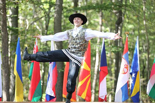 Jewish Bottle Dance, Bottle dancer Vladimir Nikitin, Maryland, Slavic Heritage Festival, St Mary's Assumption Eastern Rite Church, Joppa, MD, U.S. Army photo by Sgt. Kalie Jones
