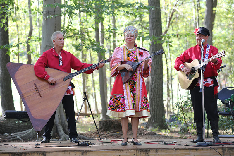 Barynya Balalaika Trio, Slavic Heritage Festival, St Mary's Assumption Eastern Rite Church, Joppa, MD, Leonid Bruk, Elina Karokhina, Mikhail Smirnov. Maryland, U.S. Army photo by Sgt. Kalie Jones