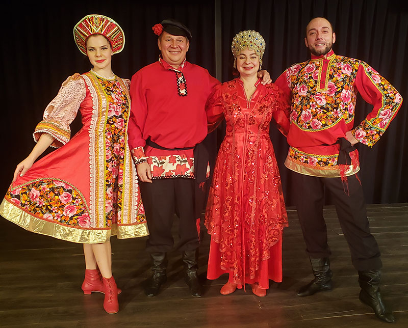 Russian dancers in North Carolina, Ensemble Barynya, Elina Karokhina, Mikhail Smirnov, Alisa Egorova, Sergey Tsyganok, Cumberland Hall Auditorium, Fayetteville Campus, Fayetteville Technical Community College, 2201 Hull Road, Fayetteville, NC 28303
