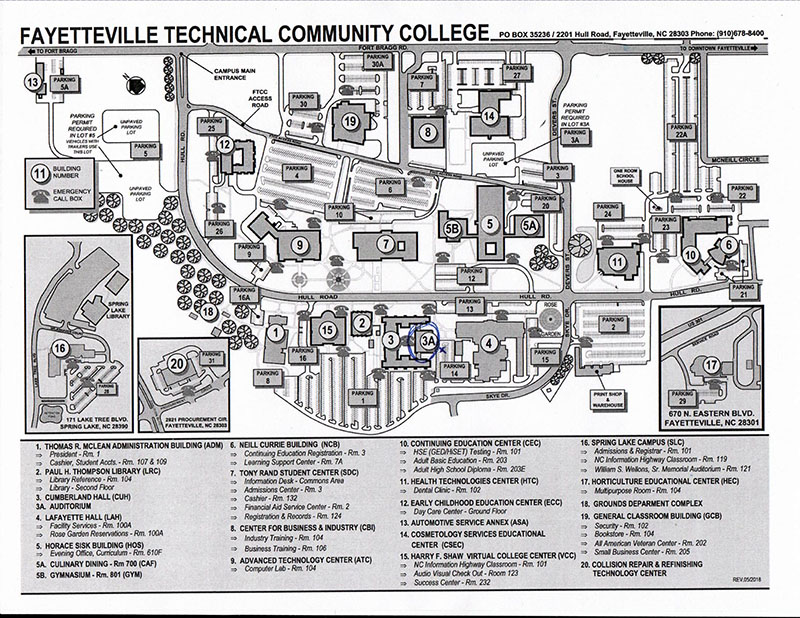 Fayetteville Campus, Fayetteville Technical Community College, Fayetteville, North Carolina