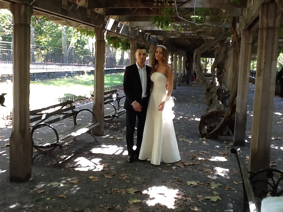 10-20-2012, Saturday, October 20, 2012, Russian Wedding Minister Mikhail, Naumburg Bandshell, Central Park, Manhattan