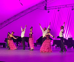 Phoenicia International Festival of The Voice, Friday, August 4th, 2017, NYC Can-Can Cabaret Dancers, Main Stage in Phoenicia Park, Mt. Ava Maria Drive, Phoenicia, NY 12464