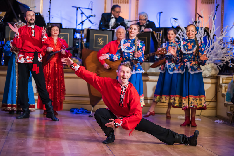 54th Annual Petroushka Ball, Barynya dancers, The Plaza Hotel, New York City, USA, Friday, February 8th 2019, Olga Chpitalnaia, Vladimir Nikitin, Irina Zagornova, Mikhail Smirnov, Elina Karokhina, Alisa Egorova, Leonid Bruk, Simona Zhukovsky, Konstantin Tulinov, Danila Sherstobitov, Valentina Kvasova