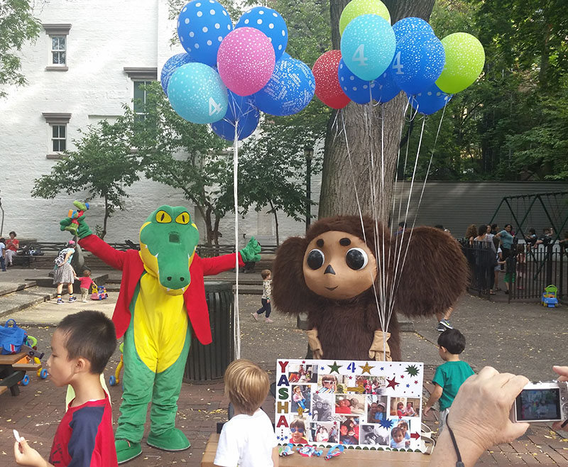 Cheburashka, Krokodil Gena, New York City, Manhattan, New York, Clement Clarke Moore Park