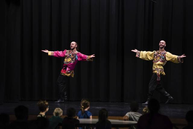 Pennsylvania Russian Dancers, Latrobe Elementary School, Latrobe, PA, Sergey Tsyganok, Arsenty Oskeen, Photo Credit: Dan Speicher, Tribune-Review