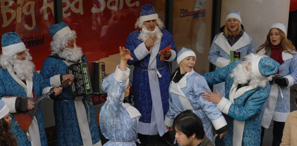 Ensemble Barynya, Father Frosts and Snegurochkas, December 2007, New York City