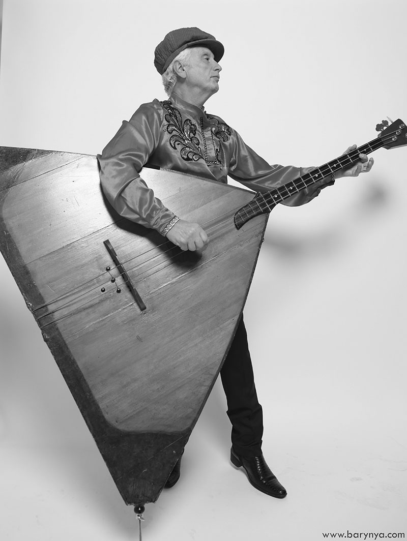 Contrabass balalaika player Leonid Bruk, photo credit Yuriy Balan