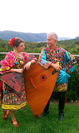 NY Russian Balalaika Trio, Elina Karokhina, Leonid Bruk, Garrison, New York, 9-17-2011