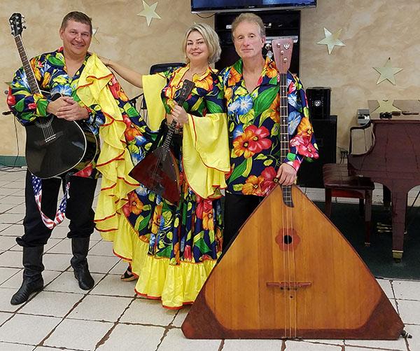 Balalaika Trio, Mikhail Smirnov, Elina Karokhina, Leonid Bruk, Lakeside Adult Care Center, Brooklyn, New York