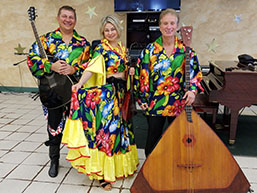 Balalaika Trio, Mikhail Smirnov, Elina Karokhina, Leonid Bruk, Lakeside Adult Care Center, Brooklyn, New York